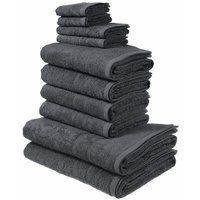 Bild von 10tlg. Handtuch Set, my home, Inga, mit feiner Bordüre grau