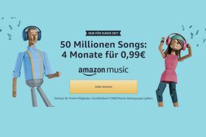Bild von Amazon Music Unlimited 4 Monate für 0,99€ für Neukunden od. 3 Monate für 7,99€ für Bestandkunden