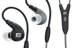 Produktbild von MEE Audio EP-M7P-BK Sport In-Ear Kopfhörer mit Lautstärkeregler schwarz