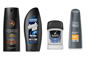 Produktbild von Bis zu 30% reduziert: Axe, Dove, Duschdas und Rexona