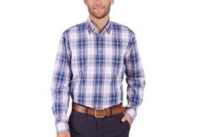 Produktbild von Olymp Casual Hemd – Herren – blau/weiß/rot/kariert  – jetzt im Sale