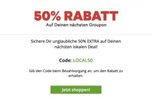 Produktbild von Nur noch HEUTE: 50% EXTRA Rabatt auf deinen nächsten lokalen Deal! CODE: LOCAL50