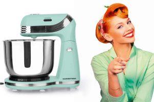 Produktbild von GOURMETmaxx Küchenmaschine Retro in Minze, 250 W
