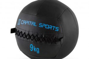Bild von Epitomer Set Wall Ball 9kg Leatherette 5 Pieces Black