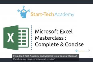 Produktbild von Microsoft Excel Masterclass: Complete and Concise (Englisch) vollkommen kostenlos mit dem Gutschein: EXCEL_DISC_FEB19