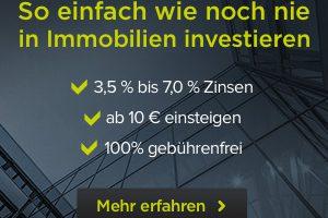 Produktbild von Investiere in Immobilien: Bis zu 7 % Zinsen + Gebührenfrei investieren + ab 10€ investieren + 10€ Startguthaben geschenkt