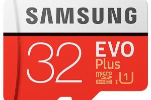 Produktbild von Samsung EVO+ 32GB microSDHC Card 2017 mit Adapter