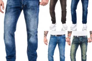 Produktbild von Rock Creek Designer Herren Jeans Hose Regular Fit Stonewash Jeans