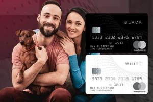 Bild von Die Black & White Prepaid Mastercard – 2 für 1! Spare jetzt bis zu 65% – Ohne Schufa Check