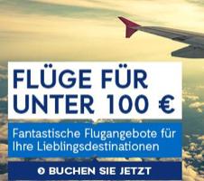 Bild von Flügangebote unter 100€