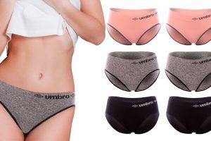Produktbild von Umbro 6er-Pack Damen-Höschen in Schwarz, Grau und Pink und in der Größe nach Wahl