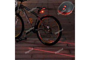 Produktbild von Red Seven blinkende Modi LED-Licht-Laser-Heckleuchten Warnung LED