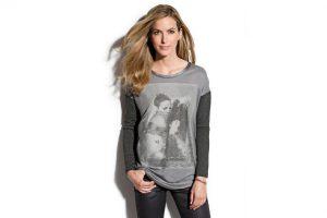 Produktbild von Walbusch Damen Shirt Grau bedruckt