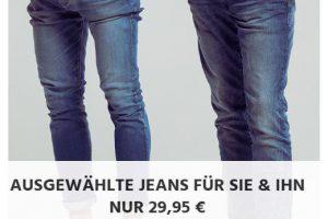 Produktbild von Ausgewählte Jeans für Männer und Frauen nur 29,95€ – Levis – Mustang – LEE – Only – Jack & Jones – u.v.m.