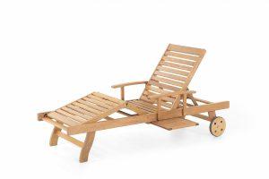 Produktbild von Beliani Gartenliege Holz rollbar JAVA