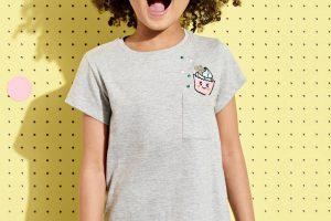 Produktbild von Vertbaudet Mädchen T-Shirt mit Pailletten, Cupcake grau Gr. 128 von vertbaudet