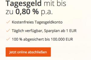 Bild von Tagesgeld Konto + 0,80% Zinsen + 200€ Prämie = 0€
