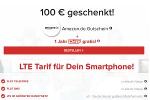 Bild von WOW! Effektiv Gratis: Allnet-Flat + 4GB LTE für 14,99€ mtl. (min. 6 Monate Laufzeit) inkl. 100€ Amazon Gutschein + kostenloses CHIP ePaper Abo