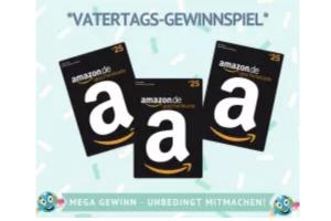 Bild von WOW! Vatertagsgewinnspiel: Gewinnne 3x 25€ Amazon Gutscheine – Mega Einfach!