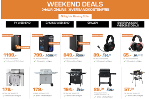 Produktbild von Saturn Entertainment Weekend Deals: z.B. xBox One S 1TB, Grills, Gaming-Headsets, Smart TVs und vieles mehr!
