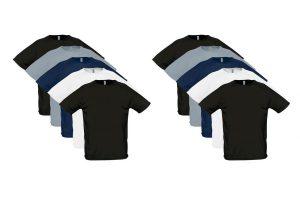 Bild von 10er-Pack T-Shirts für Herren aus 100% Baumwolle in der Farbe und Größe nach Wahl