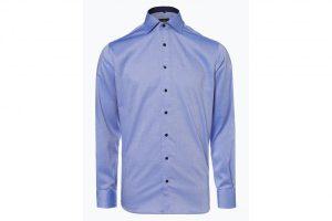 Bild von Eterna Modern Fit Herren Hemd Bügelfrei blau