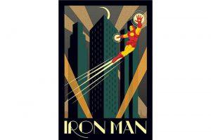 Produktbild von Iron Man Retro Poster