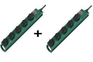 Produktbild von 2x Brennenstuhl IP44 Garten Mehrfach Steckdosenleiste 5Fach Steckdose Außen