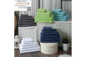 Bild von Handtuch Duschtuch Gästetuch 6er Handtuchset 2 pro Grösse 100% Baumwolle Frottee