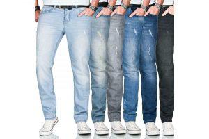 Produktbild von A. Salvarini Designer Herren Jeans Hose Regular Slim Fit Used Jeanshose Stretch