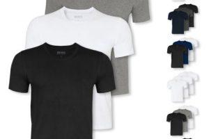 Produktbild von 3er Pack HUGO BOSS Herren T-Shirts Shirts kurzarm Crew-Neck V-Neck Farbwahl