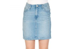 Bild von Lee Damen Jeansrock Mom Skirt – Blau – Buzz Hype