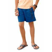 Bild von Bench. Shorts mit Logo-Druck und praktischen Nahttaschen blau
