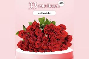 """Bild von 33 Rosen """"ClassicRed"""" für nur 14,99€ – Exklusives Angebot!"""