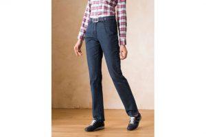 Bild von Walbusch Damen Jeans-Hose Feminine Fit Blau einfarbig elastisch mit flexiblem Bund