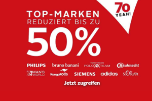 Bild von Mega! Otto Sale mit bis zu 50% Rabatt auf beliebten Marken wie Philips, adidas, Bruno Banani, Siemens uvm.!