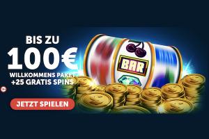 Bild von WOW! 25 Freispiele plus 100€ Bonus – Wähle aus über 800 Casino Spielen!