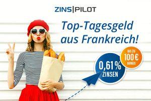 Bild von Kostenloses Tagesgeldkonto + 0,61% Zinsen + 100 € Bonus – CODE: WELTDERRABATTE