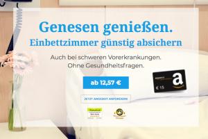 Produktbild von Fühle dich wie ein Privatpatient: Kostenloses Angebot anfordern – Geniesse ein Einbettzimmer + 15€ Amazon Gutschein