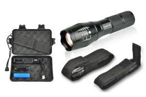 Produktbild von Apachie Militär-Taschenlampe oder 1x oder 2x Militär-Taschenlampe mit Zubehör-Set