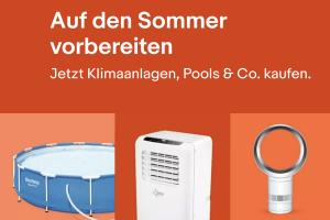 Produktbild von Bis zu 70% Rabatt auf Ventilatoren, Klimaanlagen, Pools und Co.