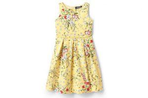 Bild von Geblümtes Satin-Kleid für kleine Mädchen – Sonstige – 116/122 von Lands' End