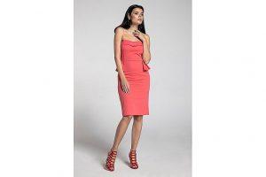 Bild von Naoko Bandeau-Kleid, kurz, Slim-Fit rosa