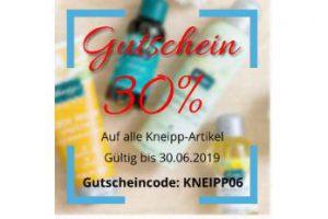 Bild von 30% Rabatt auf alle Kneipp-Produkte