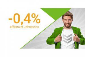 Bild von Gratis Kredit: -0,4% Zinsen = 1000€ erhalten, Laufzeit 24 Monate, Rückzuzahlender Betrag: 995,84€
