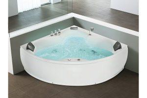 Bild von Beliani Whirlpool-Badewanne Eckmodell SENADO