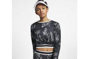 Bild von NikeCourt Dri-FIT Langarm-Tennisoberteil für Damen – Schwarz