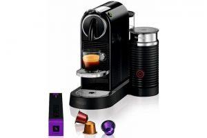 Bild von Nespresso Kapselmaschine NESPRESSO CITIZ EN 267.BAE, mit Aeroccino Milchaufschäumer