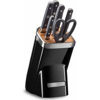 Produktbild von KitchenAid Messerblock KKFMA07OB (7tlg), Diamant-Wetzstahl schwarz