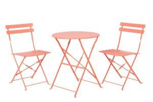 Produktbild von BELIANI Balkonset korallenrot 2 Stühle FIORI